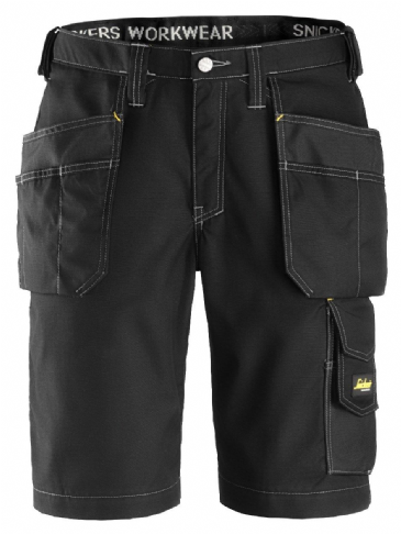 Snickers 3023 Ripstop Holster Pocket Shorts (Black / Black)